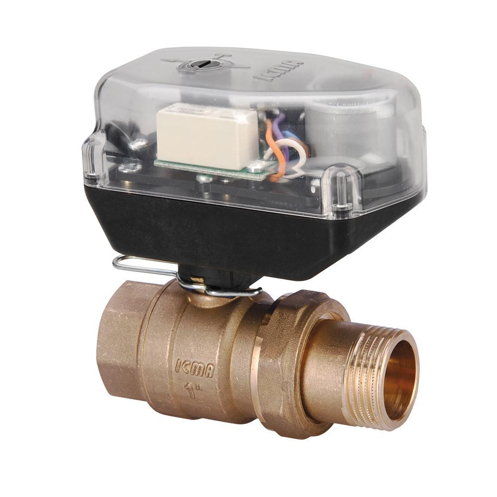 """Кульовий зонний вентиль 1"""" з мотором ICMA 341 (Італія)"""
