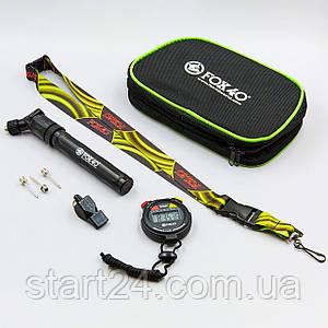 Комплект для тренеров и спортсменов FOX40 6906-1200 (чехол, секундомер, насос, иглы 3шт, свисток, ремешок)