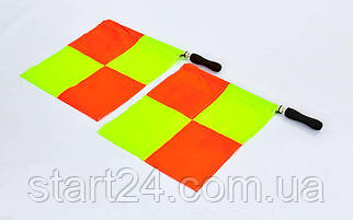 Комплект судейских флагов (футбольного арбитра) 2шт C-4948 (полиэстер, PVC чехол)