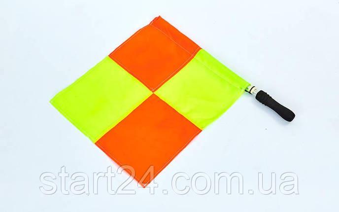 Комплект суддівських прапорів (футбольного арбітра) 2шт C-4948 (поліестер, PVC чохол), фото 2