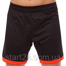 Футбольная форма подростковая LD-5021T-BK (PL, р-р 26-32, рост 125-155, черный-оранжевый), фото 3