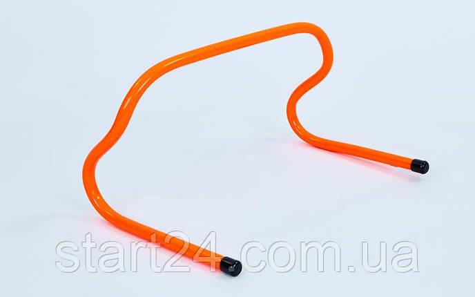 Барьер беговой (1шт) C-4592-25 (пластик, р-р 25x46x30см, оранжевый), фото 2
