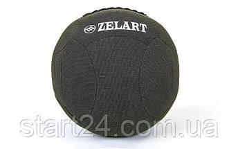 Мяч для кроссфита набивной в кевларовой оболочке 5кг Zelart WALL BALL FI-7224-5 (кевлар, наполнитель-метал. гранулы, d-35см, черный), фото 3