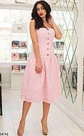 Платье женское летнее легкое прошва 42-48 размеров, 5 цветов