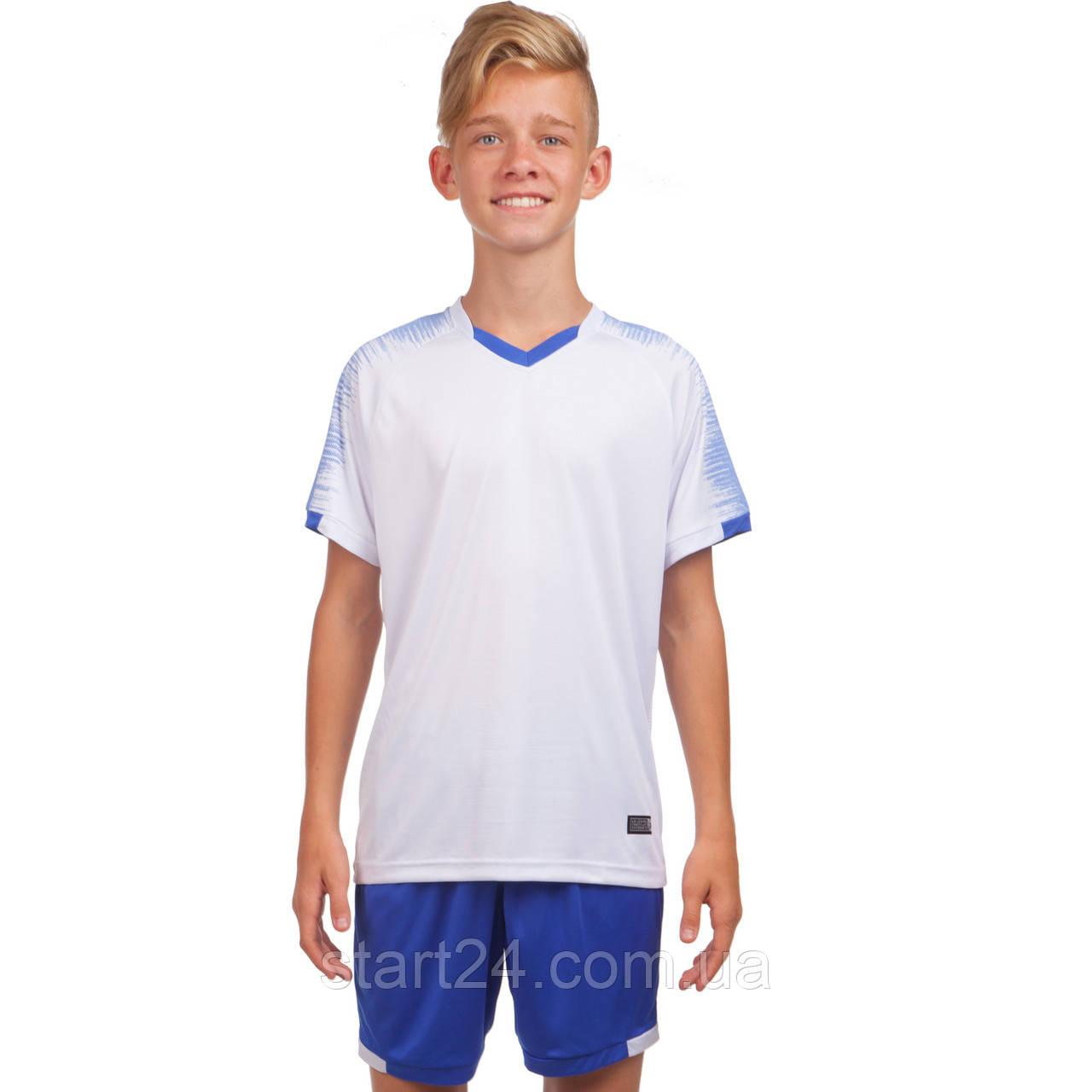 Футбольная форма подростковая LD-5023T-2 (PL, р-р 26-32, рост 125-155, белый-синий)