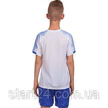 Футбольная форма подростковая LD-5023T-2 (PL, р-р 26-32, рост 125-155, белый-синий), фото 2