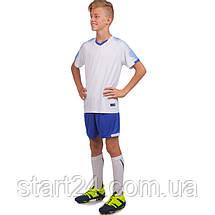 Футбольная форма подростковая LD-5023T-2 (PL, р-р 26-32, рост 125-155, белый-синий), фото 3