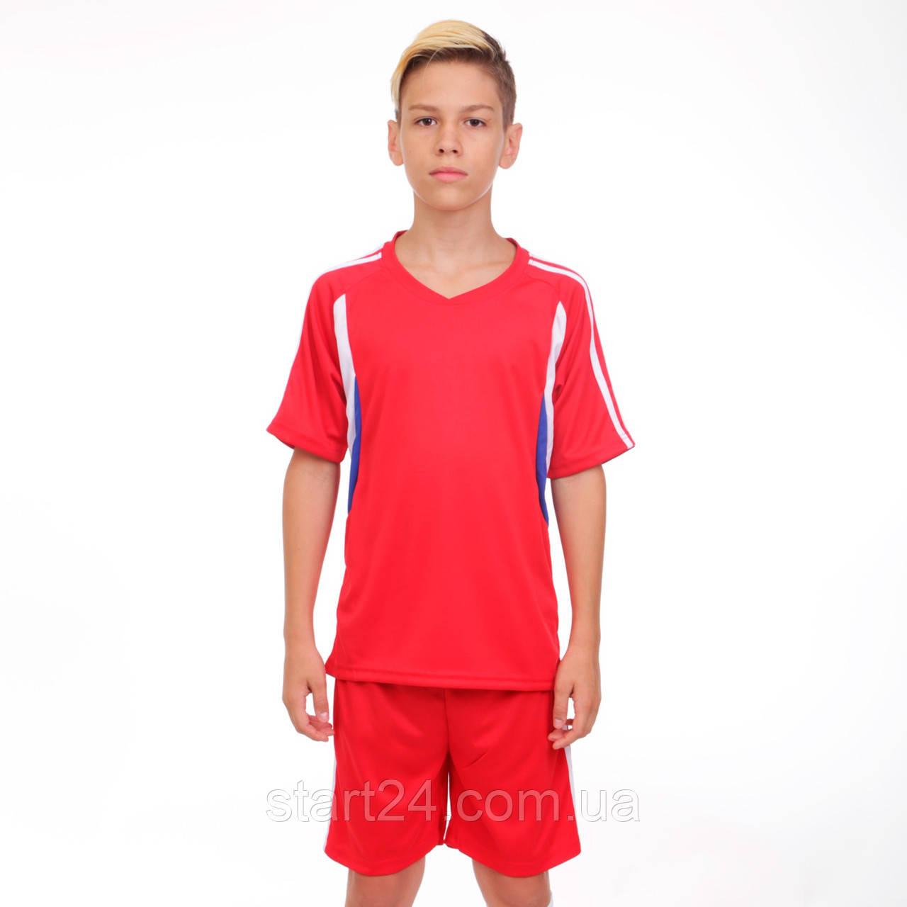 Футбольная форма подростковая Line CO-4587-R (PL, р-р М-XL, красный, шорты красн)