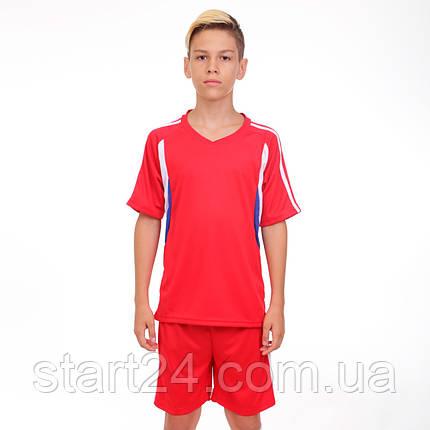 Футбольная форма подростковая Line CO-4587-R (PL, р-р М-XL, красный, шорты красн), фото 2