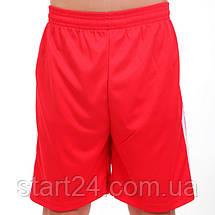 Футбольная форма подростковая Line CO-4587-R (PL, р-р М-XL, красный, шорты красн), фото 3