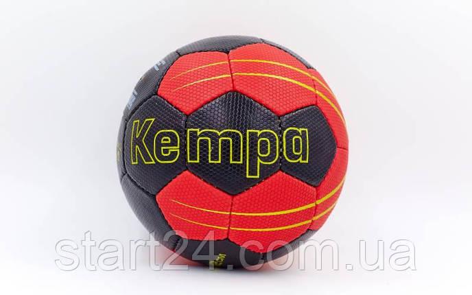 Мяч для гандбола KEMPA HB-5409-3 (PU, р-р 3, сшит вручную, черный-красный), фото 2