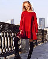Молодежное платье женское демисезонное свободного кроя 42-48 размеров, 3 цвета
