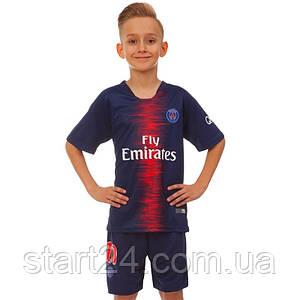 Форма футбольная детская PSG NEYMAR 10 домашняя 2019 SP-Planeta CO-8034 (р-р 20-28-6-14лет, 110-155см, синий-бордовый)