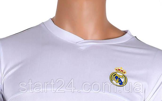 Форма футбольная детская REAL MADRID Sport CO-3900-RMAD-2  (PL, р-р S-XL, рост 125-165см, белый-салатовый), фото 2