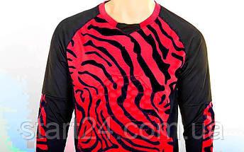 Форма футбольного вратаря юниорская CO-0233-R (PL, р-р S-M-42-46(28-30), красный-черный), фото 2