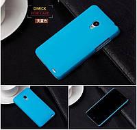 Пластиковый чехол для Meizu MX2 голубой