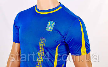 Форма футбольная детская УКРАИНА Чемпионат Мира 2018 Sport CO-3900-UKR-18B (PL, р-р XS-XL, рост 116-165см, синий), фото 2
