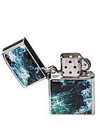 Зажигалка DM 01 Морские волны синяя - 176913