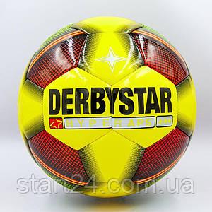 Мяч футбольный №5 PVC ламин. Клееный DERBYSTAR FB-0085 (№5, желтый-красный) Replica