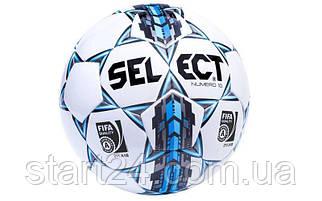 Мяч футбольный №5 SELECT NUMERO-10 FIFA (FPUS 1500, белый-серый-голубой)