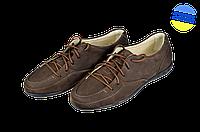 Женские туфли кожаные классические makas 348-14-01 коричневые   весенние