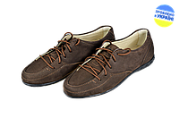 Женские туфли кожаные классические makas 348-14-01 коричневые   весенние , фото 1