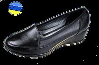 Женские туфли кожаные классические mida 21382ч черные   весенние , фото 1