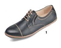 Женские туфли кожаные классические mida 21352ч черные   весенние