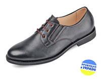 Мужские туфли кожаные классические mida 31126ч черные   весенние