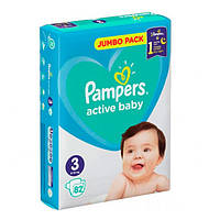 Підгузники для дітей Active Baby ТМ Памперс / Pampers (6-10 кг) №82