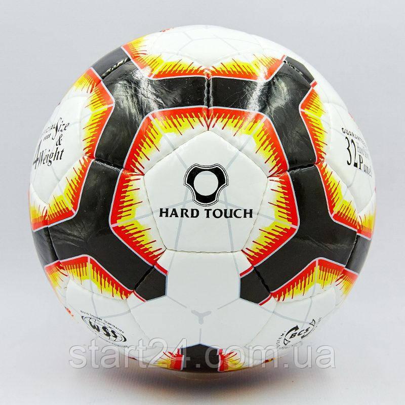 Мяч футбольный №4 HARD TOUCH PREMIER LEAGUE 2018-2019 EC-02 (№5, 5 сл., сшит вручную, белый-красный)