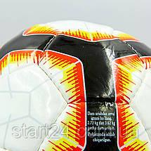 Мяч футбольный №4 HARD TOUCH PREMIER LEAGUE 2018-2019 EC-02 (№5, 5 сл., сшит вручную, белый-красный), фото 2