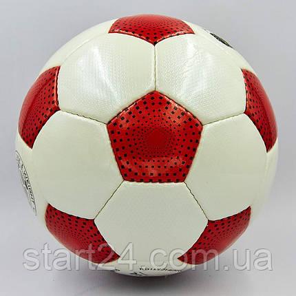 Мяч футбольный №5 PU ламин. OFFICIAL FB-0171-3 красный (№5, 5 сл., сшит вручную), фото 2