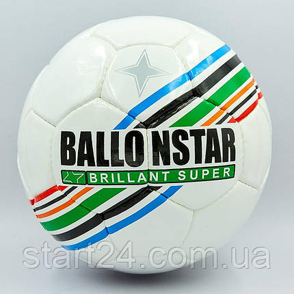 Мяч футбольный №5 PU ламин. BALLONSTAR FB-5415-2 (№5, 5 сл., сшит вручную), фото 2