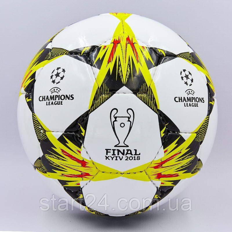 М'яч футбольний №3 PU ламін. CHAMPIONS LEAGUE FINAL KYIV 2018 FB-0102 (№3, 5 сл., зшитий вручну)