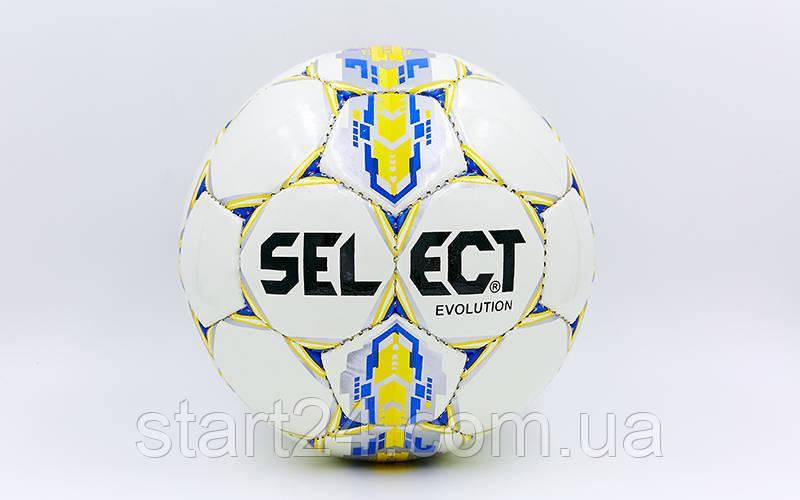 Мяч футбольный №5 PU ламин. ST EVOLUTION ST-8163 белый-синий-желтый (№5, 5 сл., сшит вручную)