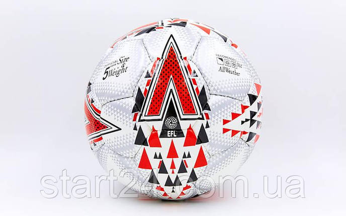 Мяч футбольный №5 PU ламин. MITER FB-6780 (5 сл., сшит вручную), фото 2