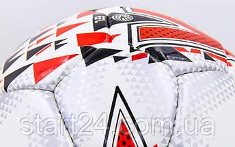 Мяч футбольный №5 PU ламин. MITER FB-6780 (5 сл., сшит вручную), фото 3