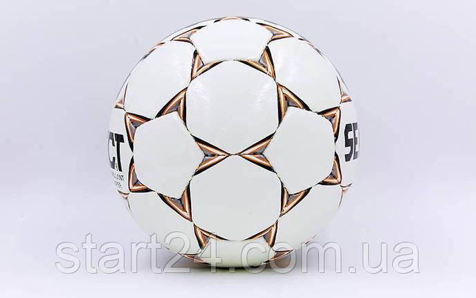 Мяч футбольный №4 PU ламин. ST BRILLANT SUPER ST-8257 белый-оранжевый-серый (№4, 5 сл., сшит вручную), фото 2