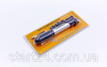 Насос напольный ручной для мячей, велосипедов LEGEND FB-2306 (пластик, алюминий, l-21см, d-2,5см), фото 2