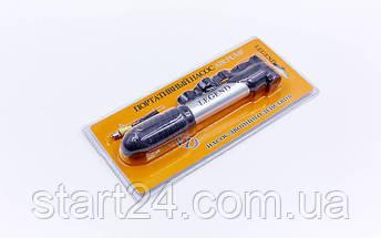 Насос підлоговий ручної для м'ячів, велосипедів LEGEND FB-2306 (пластик, алюміній, l-21см, d-2,5 см), фото 2