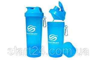 Шейкер 2-х камерный для спортивного питания SMART SHAKER SLIM FI-5054 (400+100мл, цвета в ассортименте)