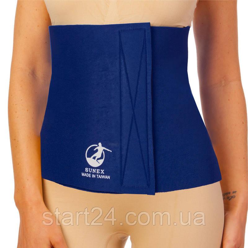 Пояс для похудения SUNEX ZD-3052 12in x 40in x 4мм (неопрен, р-р 30см x 100см x 4мм, т.синий)