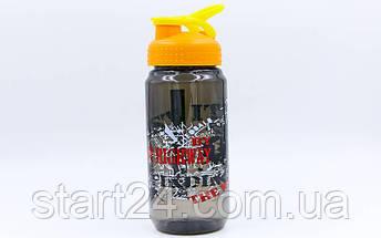 Бутылка для воды спортивная SP-Planeta SPORT 500 мл 1821 (PC, черный, красный, салатовый), фото 2