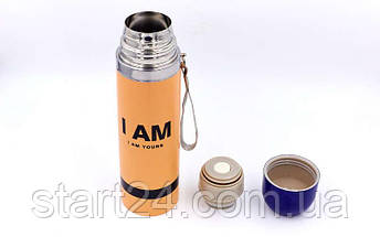 Сталевий Термос 500ml I AM 2416 (кольори в асортименті, сталь), фото 3