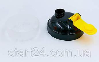 Шейкер с сеточкой для спортивного питания FI-4444-OBK (TS1314) (пластик, 700мл, оранжевый-черный), фото 3