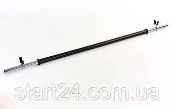 Штанга для фитнеса (фитнес памп) FI-30300 20кг (гриф l-1,3м,d-25мм, в пластиковой оболочке блины 2x(1,25+2,5+5кг)), фото 3