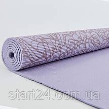 Коврик для йоги и фитнеса PVC двухслойный 6мм SP-Planeta DOILY FI-0185-3 (размер 173смx61смx6мм, фиолетовый), фото 3