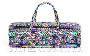 Сумка для фитнеса и йоги Yoga bag FODOKO FI-6970-2 (размер 20смх19смх64см, полиэстер, хлопок, темно-синий-фиолетовый), фото 3