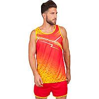 Форма для легкой атлетики мужская (красный-оранжевый)